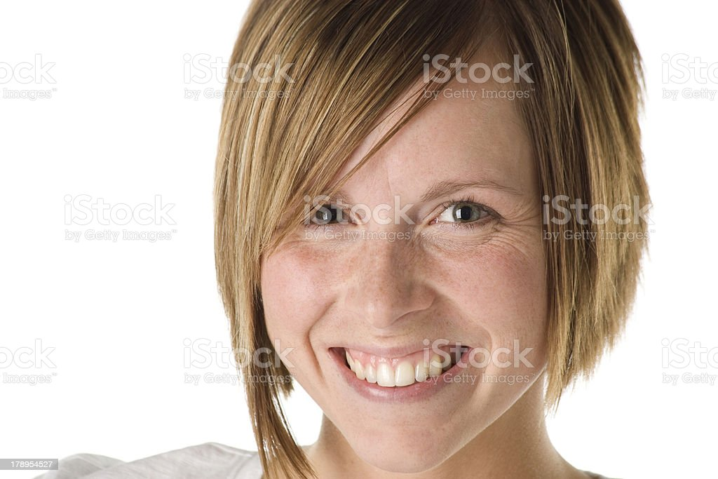 Closeup Woman in Late Twenties Pretty Smile royalty-free stock photo