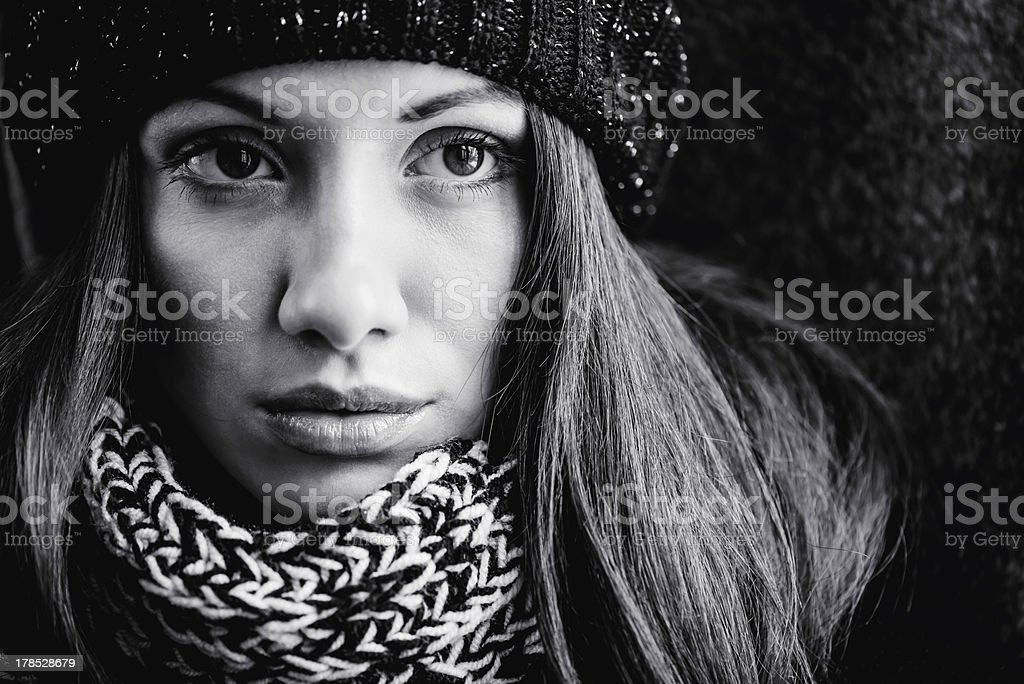 closeup woman portrait royalty-free stock photo