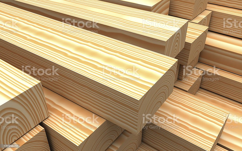Close-up wood beams royalty-free stock photo