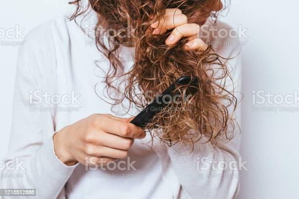 Closeup Young Woman Wearing White Shirt Stock Photo - Download Image Now