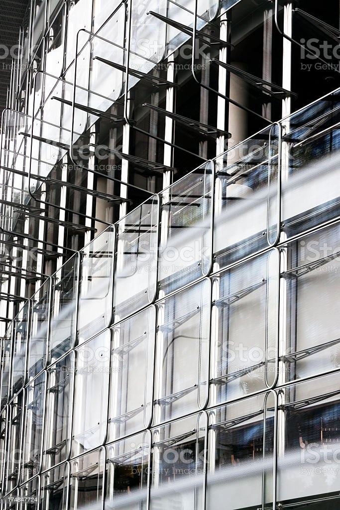 Closeupexterior of modern glass office building royalty-free stock photo