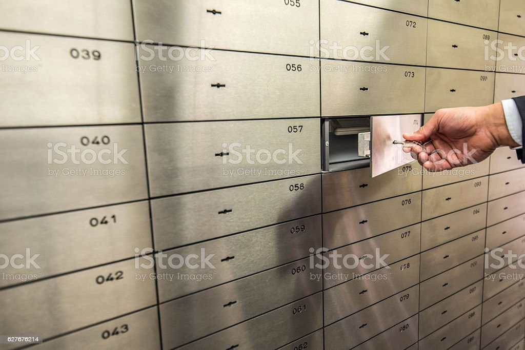 Closing Locker stock photo