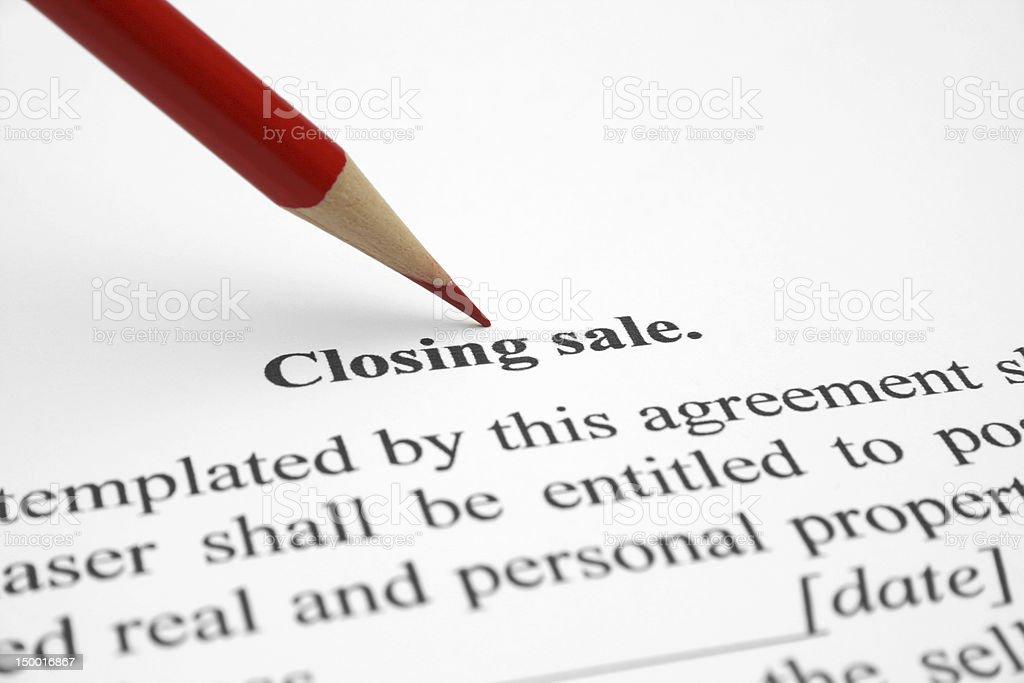 Closing sale stock photo