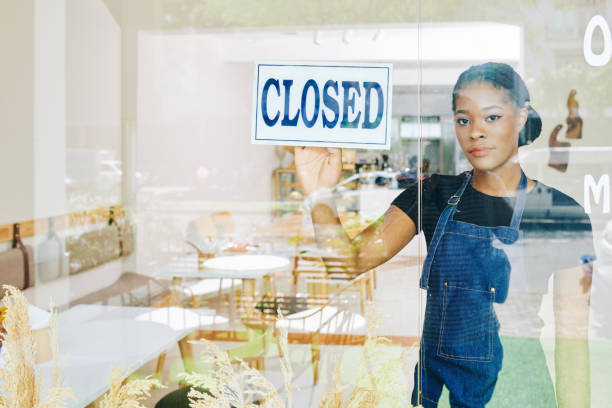 Closing small business stock photo