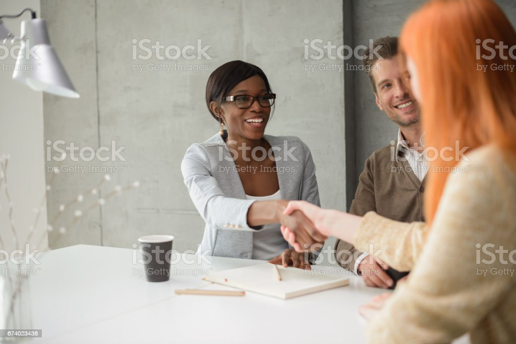 Closing the deal stock photo