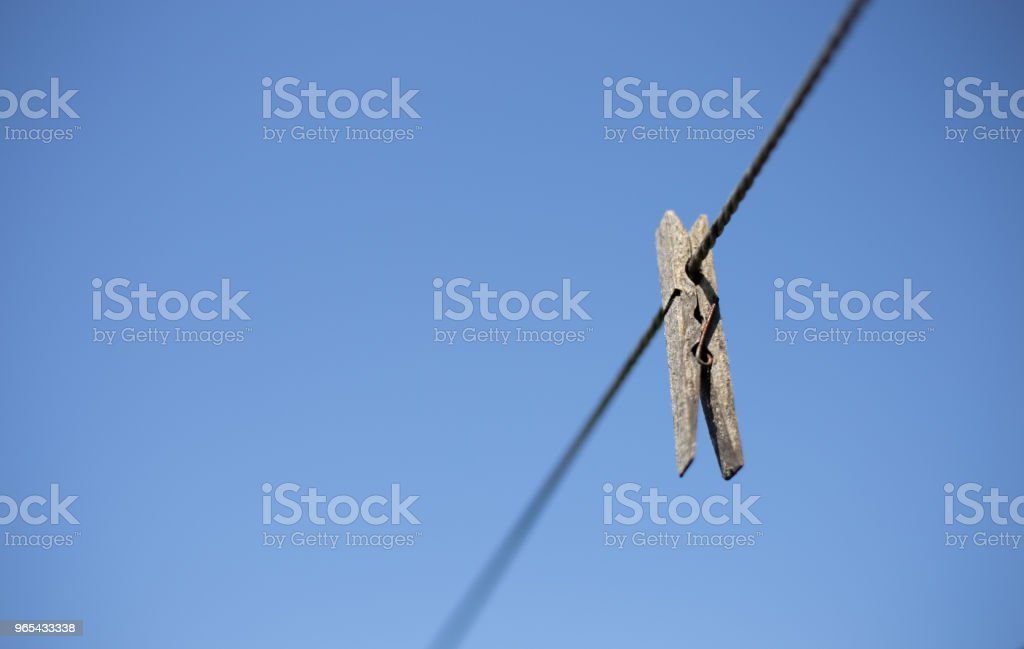 Cloth clamp royalty-free stock photo