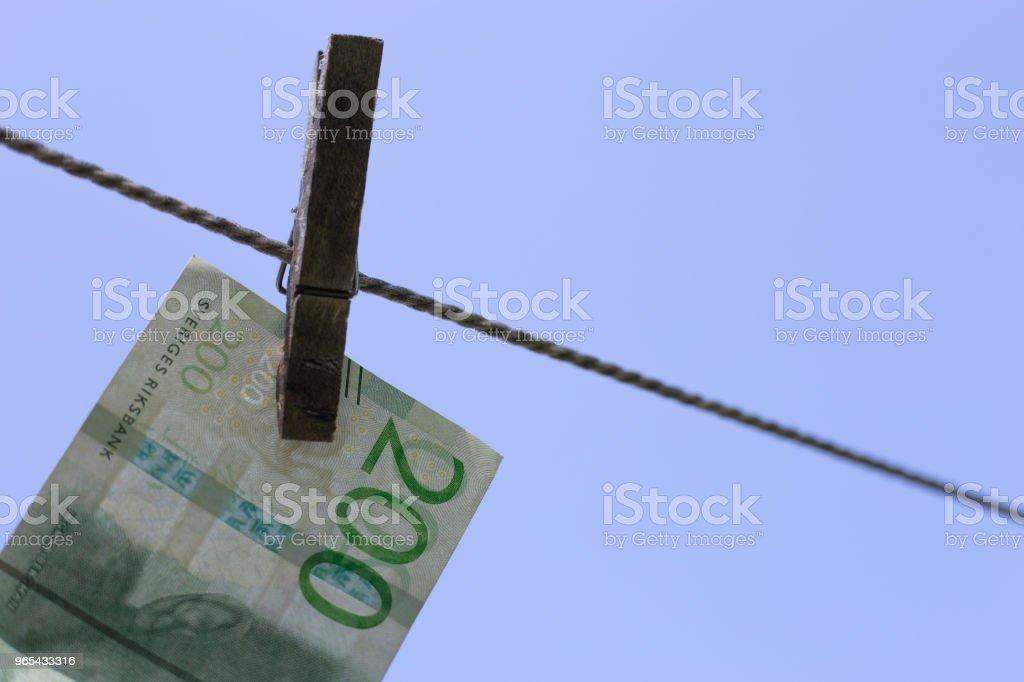 Cloth clamp with banknotes zbiór zdjęć royalty-free