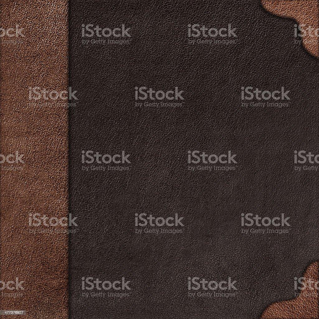 Tissu couverture de l'album avec rootlet en cuir - Photo
