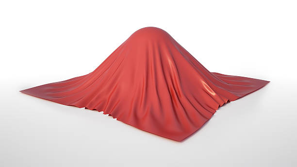 Cloth covered sphere stock photo
