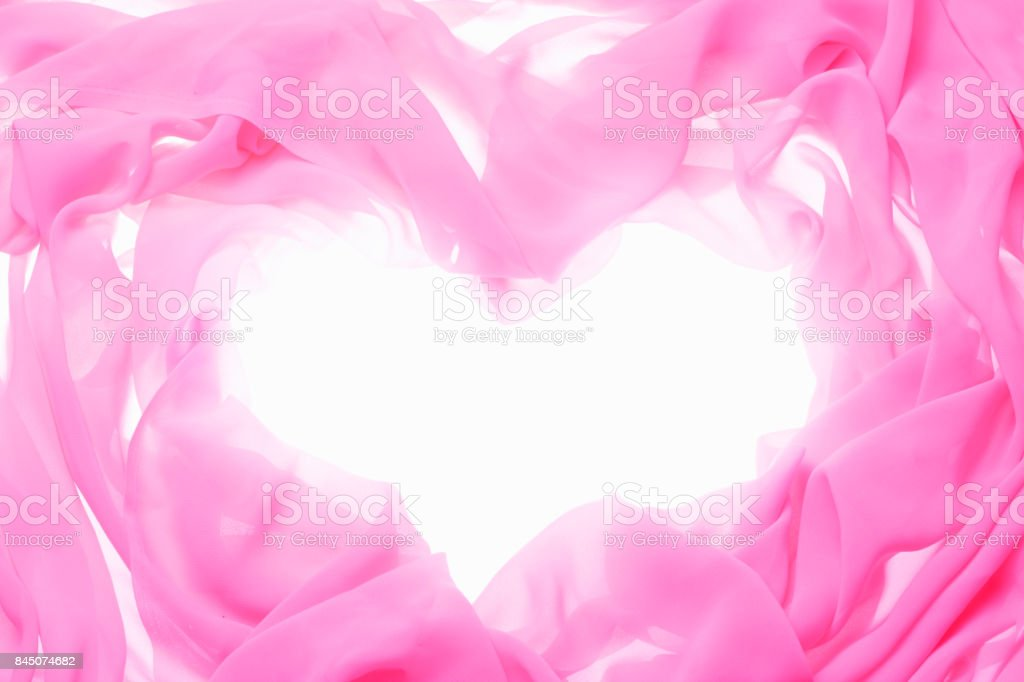 Cloth frame the heart stock photo
