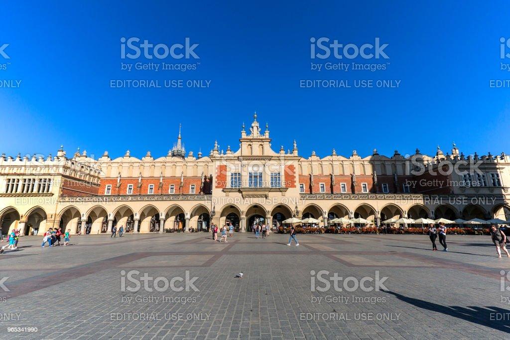 Cloth Hall on Main Market Square in sunny day, Krakow, Poland royalty-free stock photo