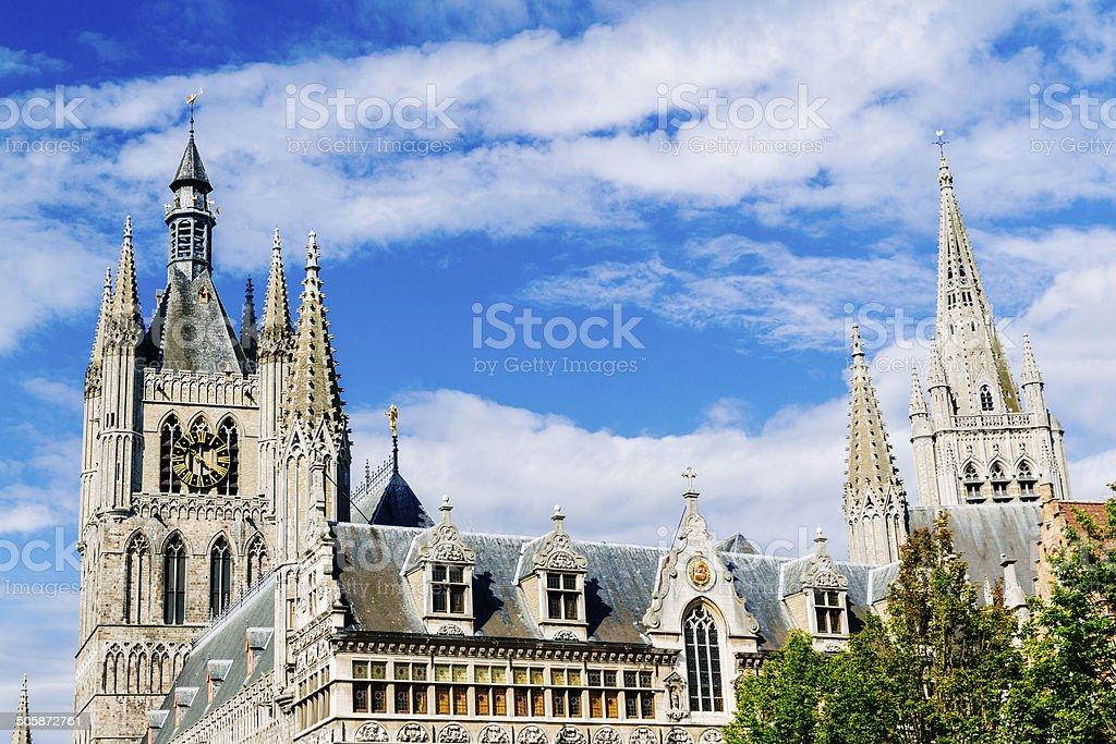 Cloth Hall, Ypres, Belgium stock photo