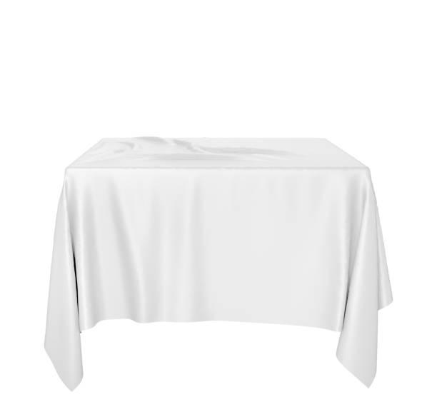 cloth on a square pedestal - tovaglia foto e immagini stock