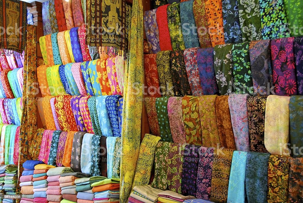 Cloth shop in Bali royalty-free stock photo