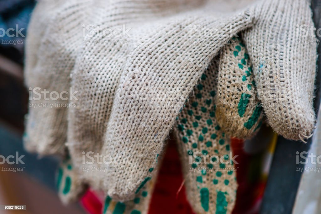 Cloth working gloves stock photo