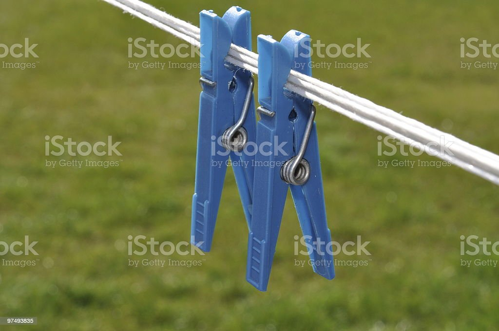 clothepins on the line royalty-free stock photo