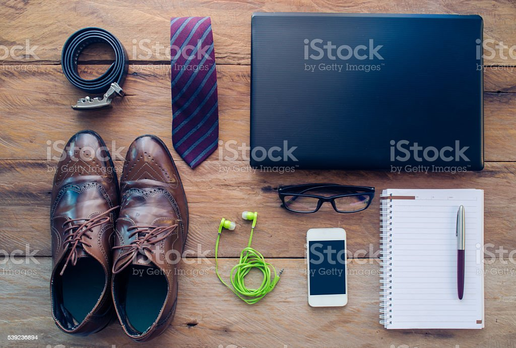 Clothes and accessories for people to work. foto de stock libre de derechos