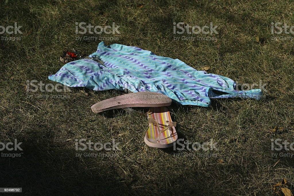 Clothes and keys left behind royalty-free stock photo