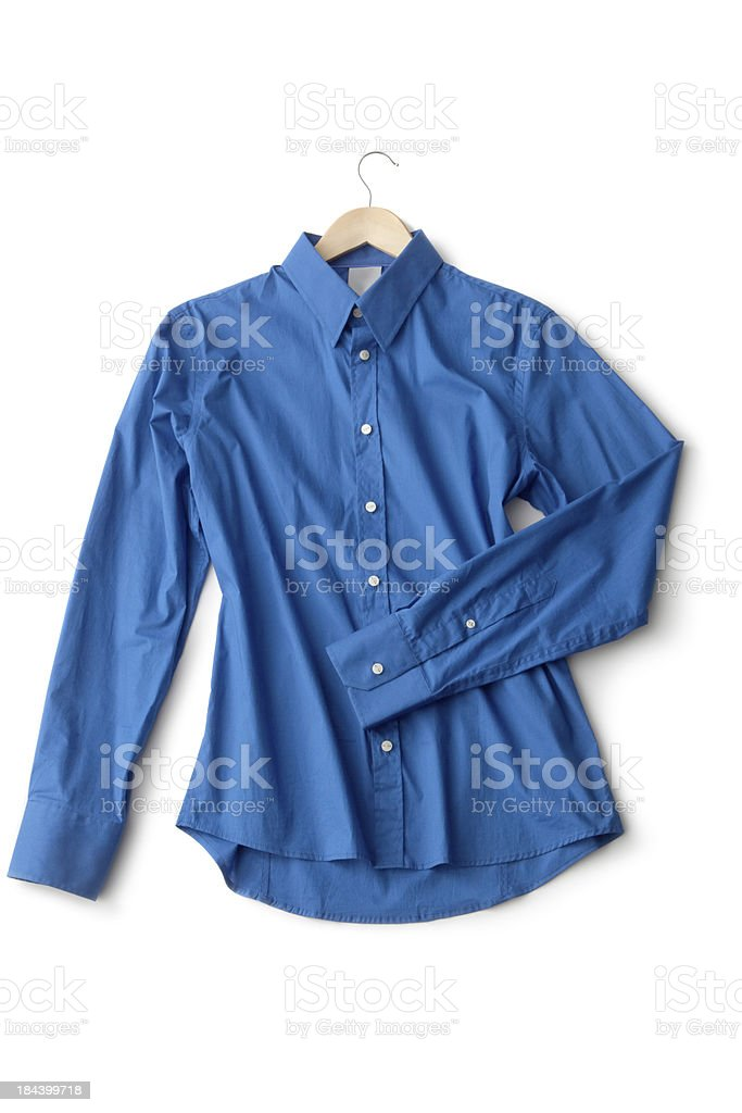 Clothes: Blouse Blue stock photo