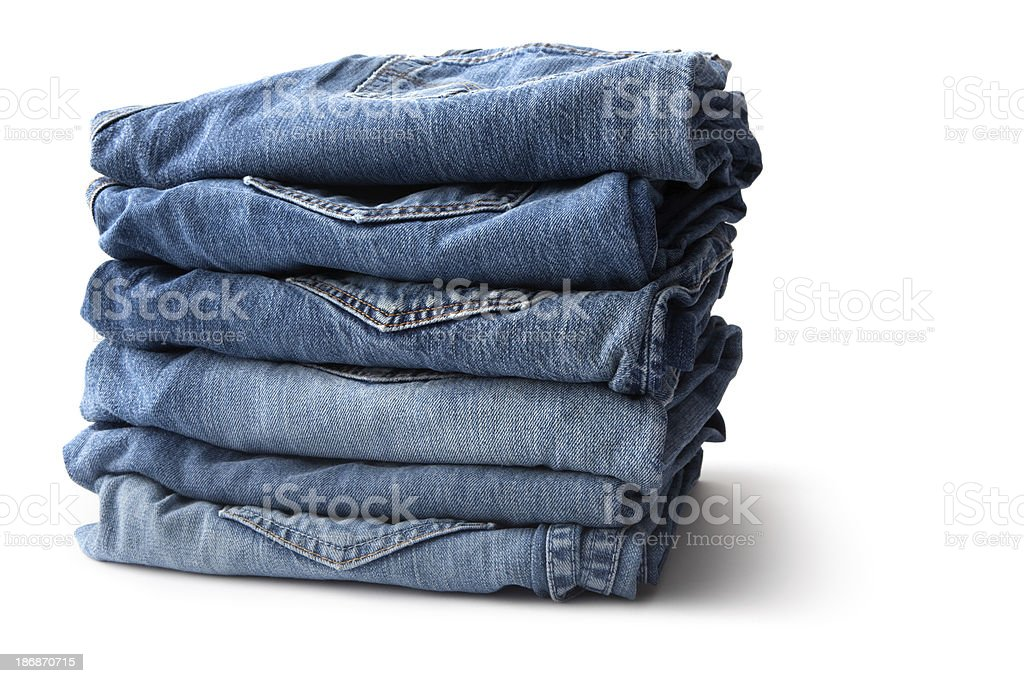 Clothes: Blue Jeans stock photo