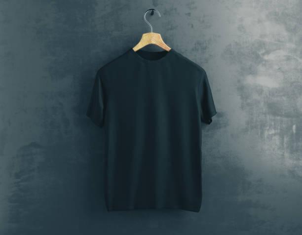 conceito de roupas - camiseta preta - fotografias e filmes do acervo