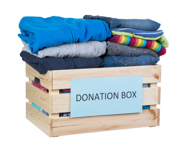 Clothes drive stock photo