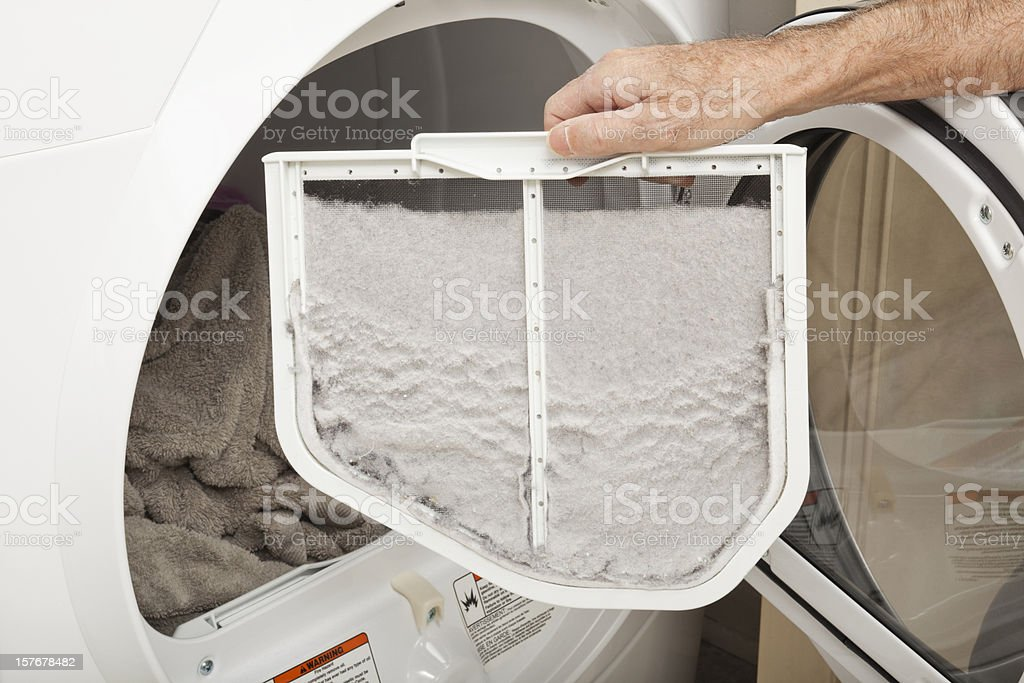 Clothes Dryer Lint Trap royalty-free stock photo