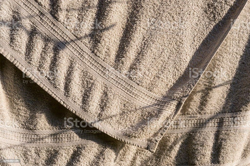 Clothes drying in the sun stock photo