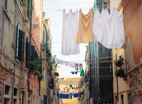 Clothes drying in Venice