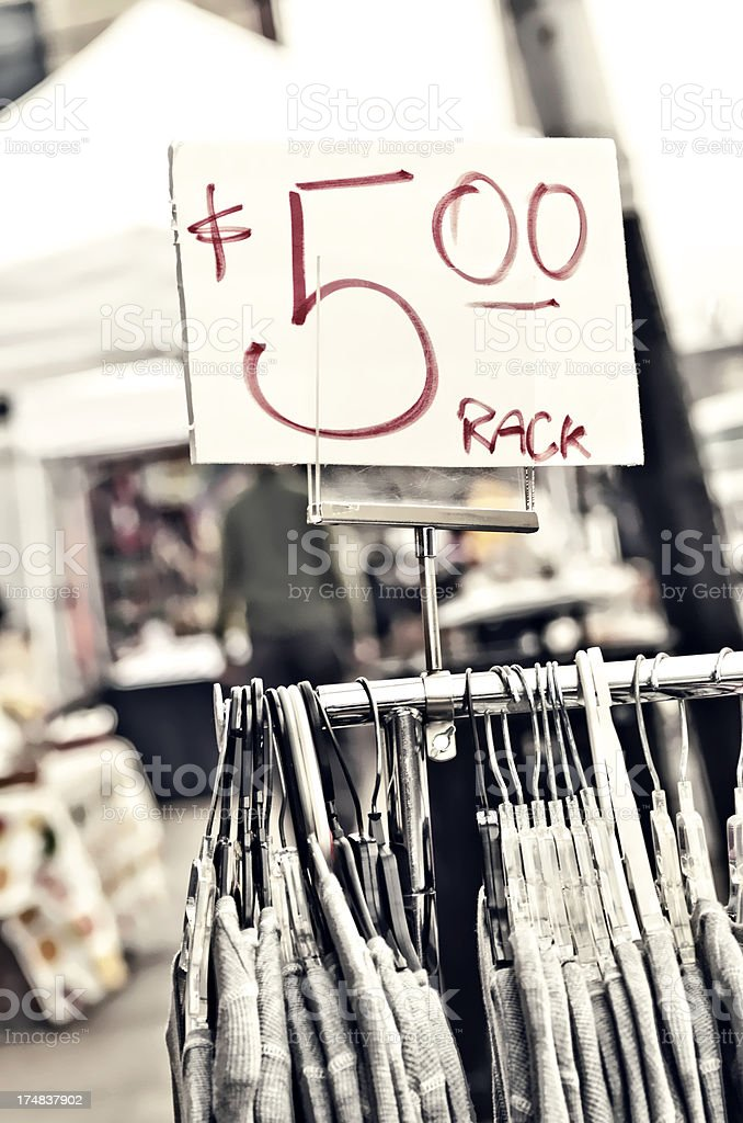 Clothes for Sale royalty-free stock photo