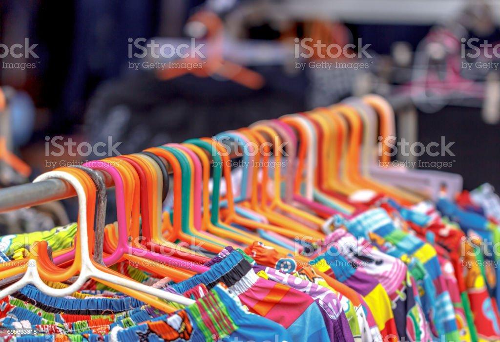Clothes hanger stock photo