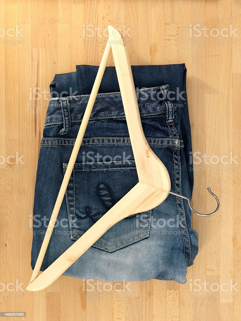 Clothes Hangers royalty-free stock photo