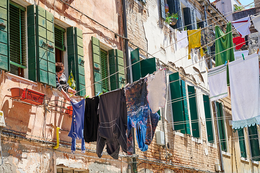 Clothes Hanging in Venice