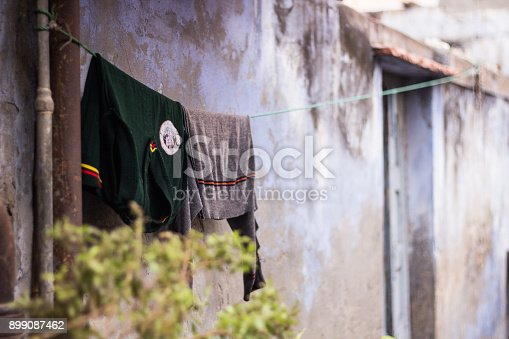 istock Clothes hanging on a clothesline 899087462