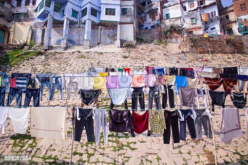 istock Clothes hanging on a clothesline 899087554
