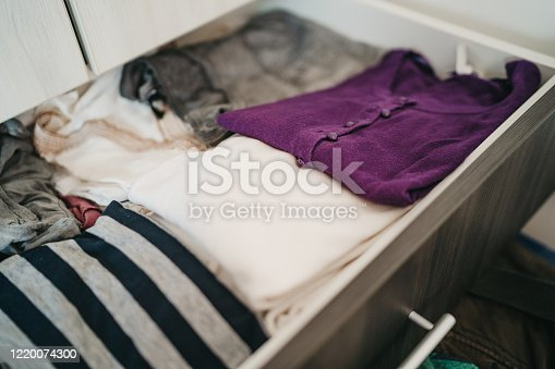 1164403364 istock photo Clothes in a drawer 1220074300