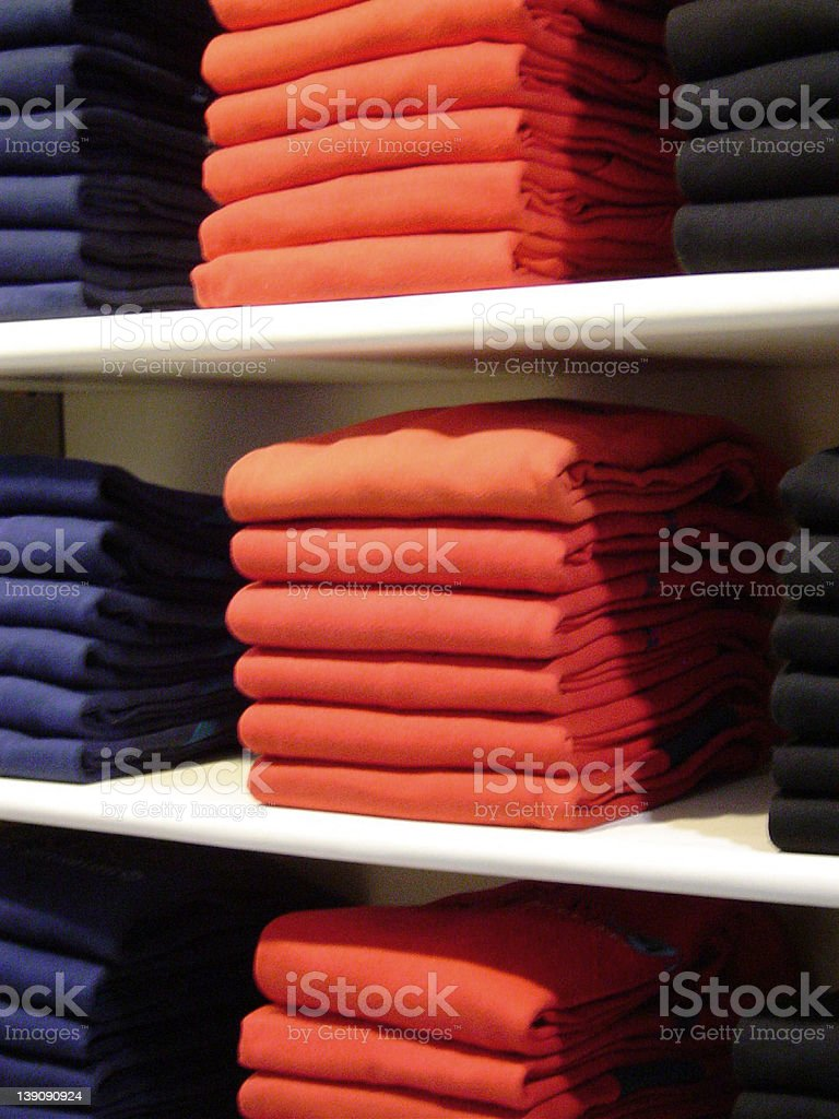 Clothes in the Closet royalty-free stock photo