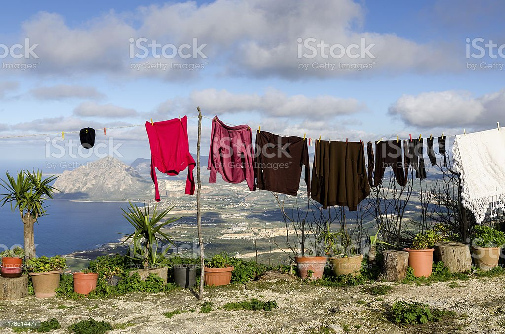 clothes in the wind royalty-free stock photo