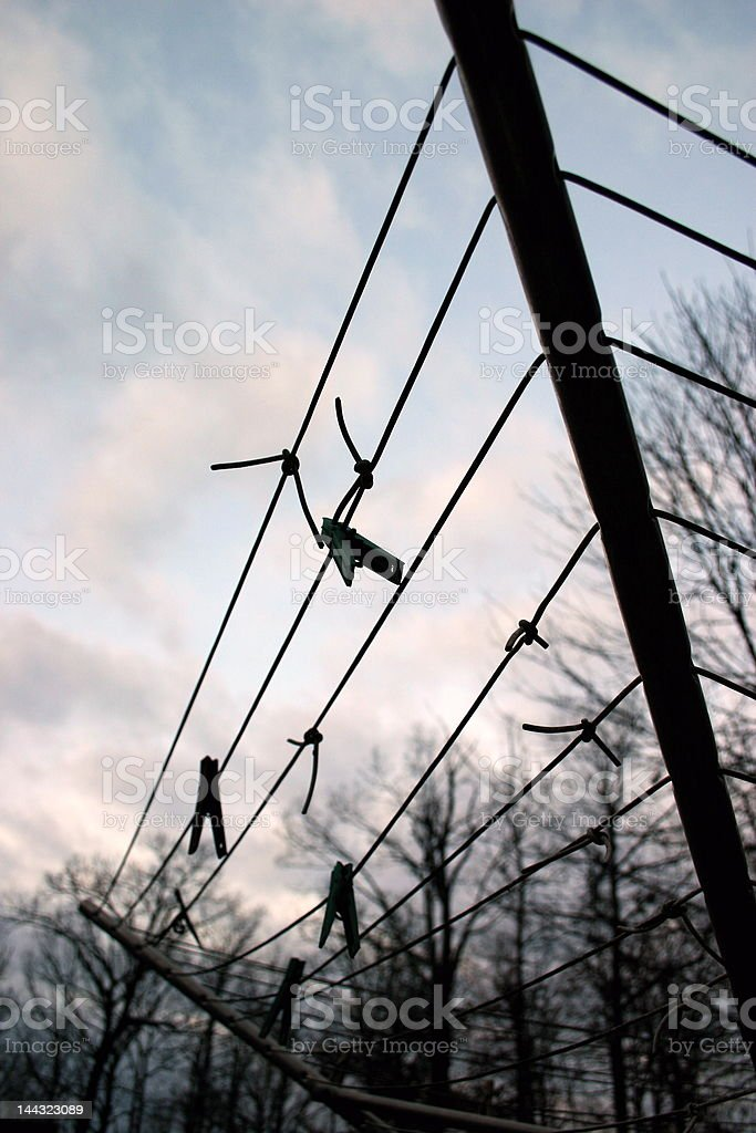 clothes line royalty-free stock photo