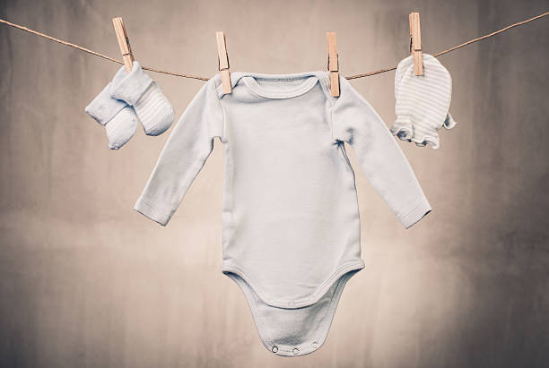 Clothes of a little baby stock photo