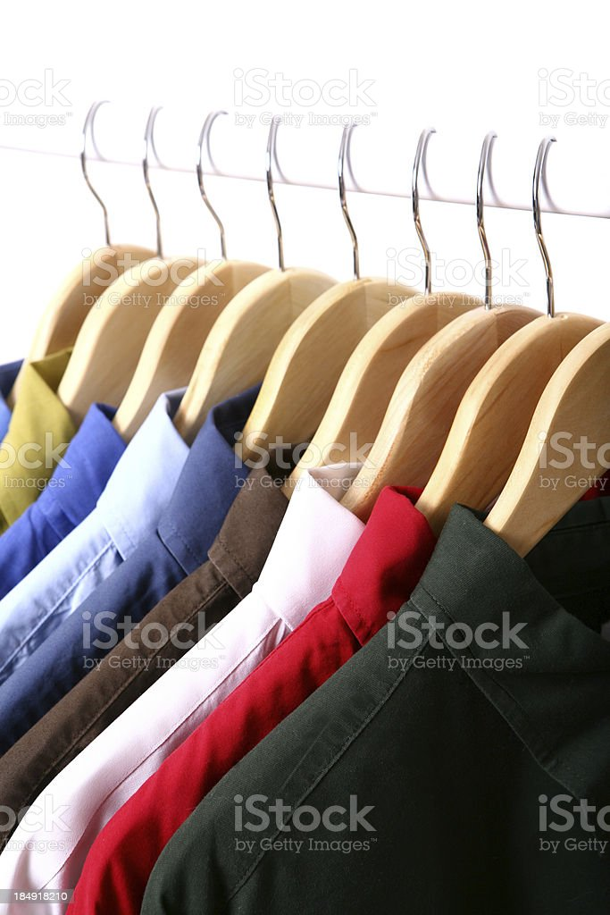 Clothes on a Hanger royalty-free stock photo