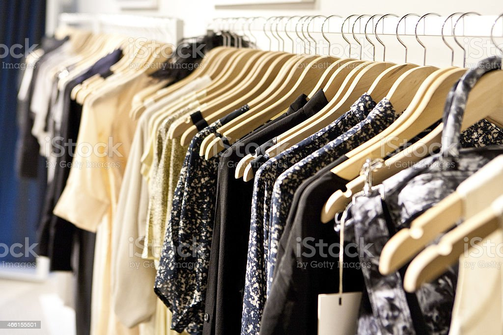 Clothes On a Rack - Royalty-free Business Stock Photo