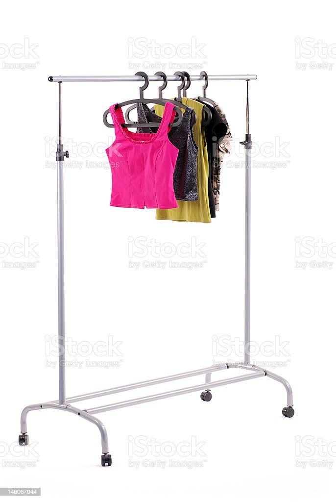 Clothes on a rail. stock photo