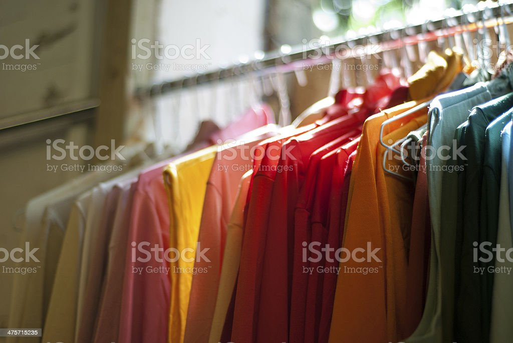 Clothes on a Rail stock photo