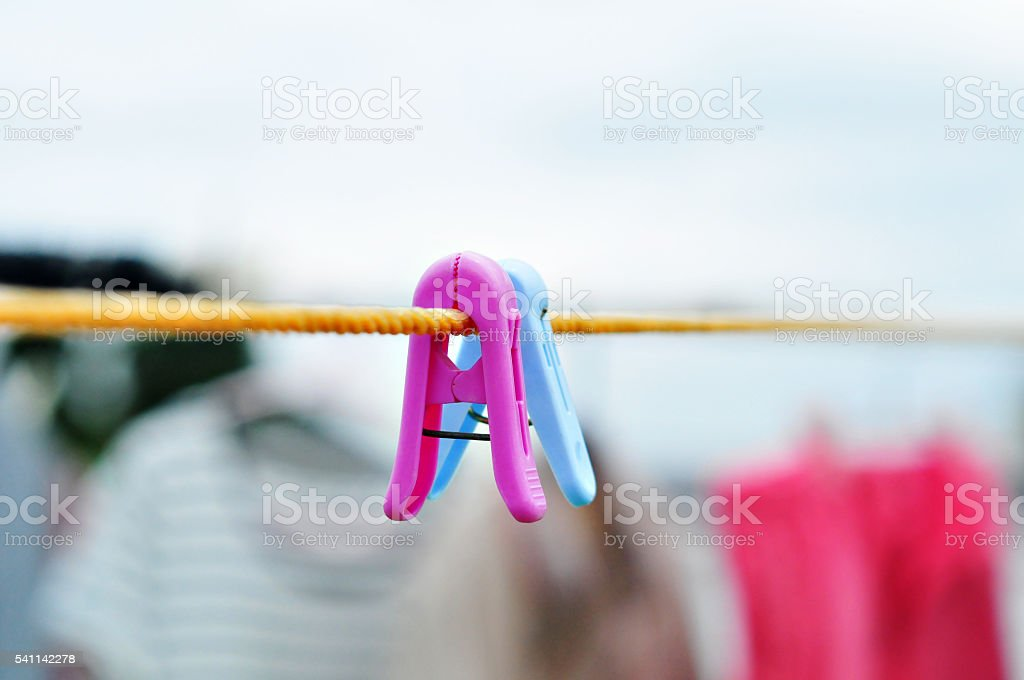 Clothes peg stock photo