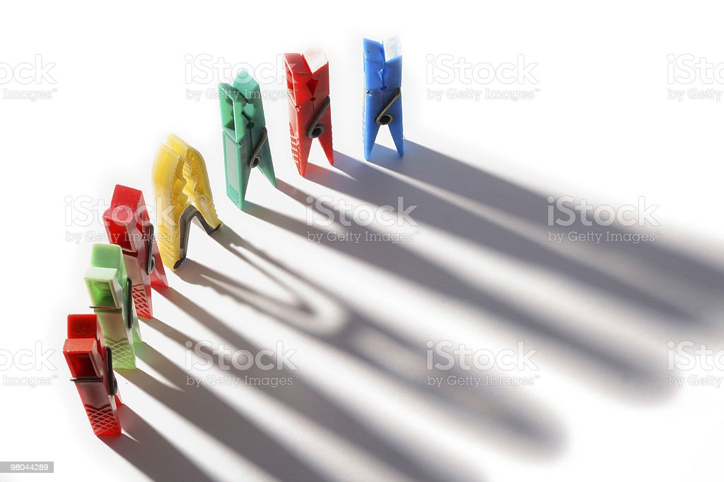 Clothes pegs royalty-free stock photo