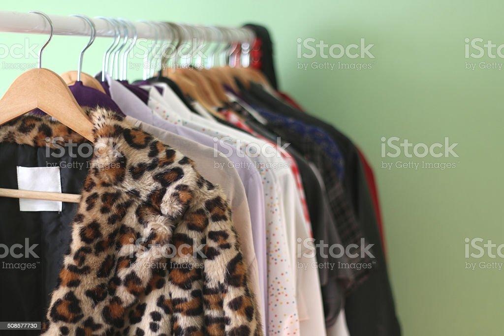 Clothes Rack stock photo