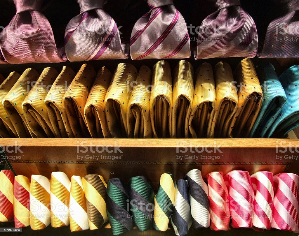 Clothes selection in an exclusive shop royalty-free stock photo