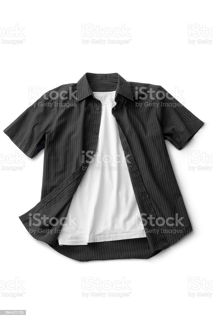 Clothes: Shirt and Tshirt royalty-free stock photo