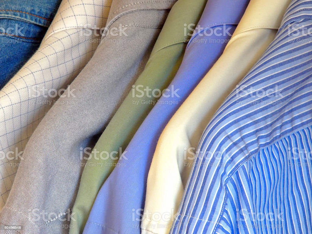 Clothes. Shirts 2 royalty-free stock photo